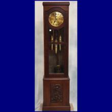 Late 19th/Early 20th C Oak Grandfather Clock  20
