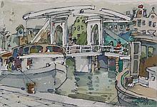 BOATS ALONGSIDE THE CANAL, AMSTERDAM