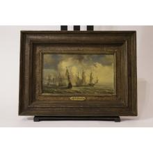 Peter Monamy Oil Painting Ships