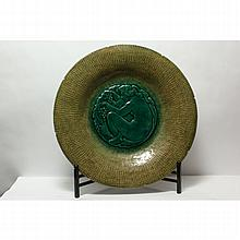 Richard Guino Green Glazed Charger