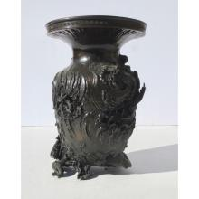 Japanese Bronze Vase Rising Water and Dragons