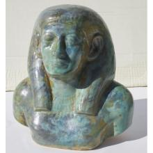 French Faience Egyptian Bust