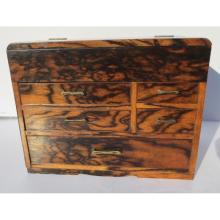 Japanese Sewing Box Early 20th Century Persimmon Wood