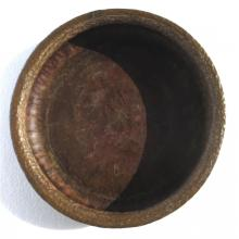 Large Hammered Bronze Center Tray