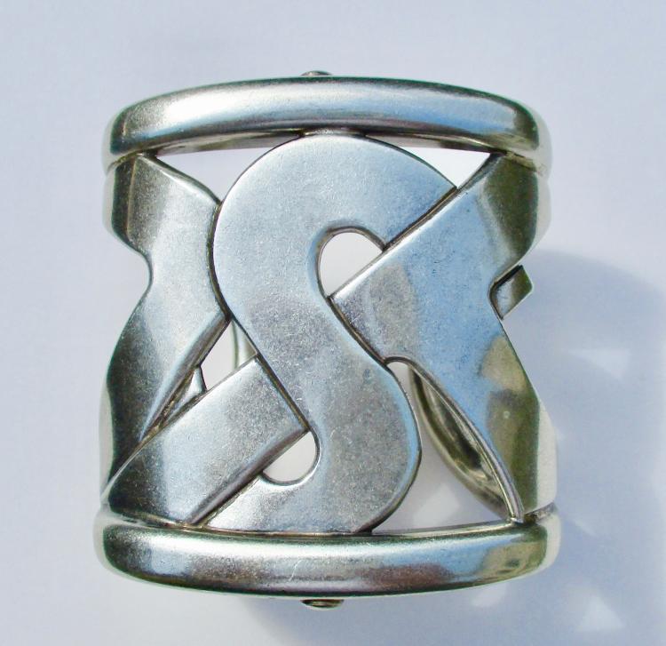 d70950316f8b3 Yves Saint Laurent rive gauche Metal Bracelet