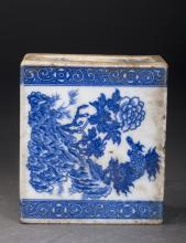 Blue and White Porcelain Pillow