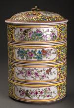 18thc Qing Style  Antique Fine Round Container