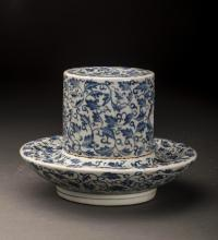 Blue and White Porcelain Ink Well, WanLi Period