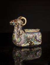 20thC Cloisonn Goat Shape Designed Decoration