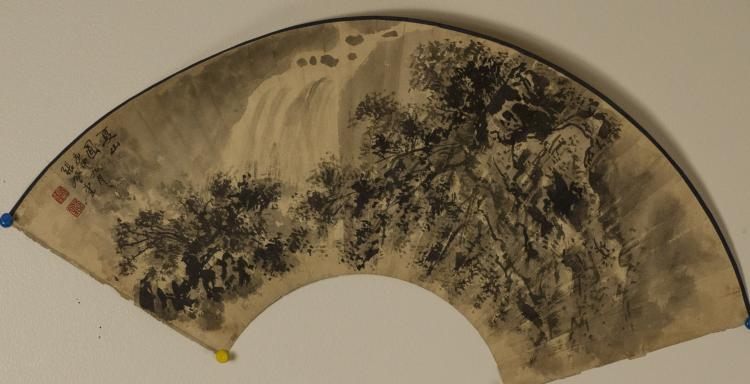 Chinese Landscape FanPainting Zhangdengtang(1944-)