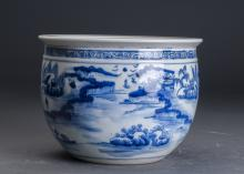 Chinese Blue and White Porcelain Urn