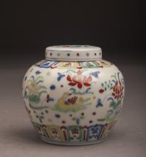 Doucai Contrasting Porcelain Pot