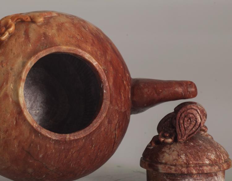 Shoushan stone carving teapot