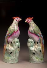 Multi-color Glazed Figures of Chicken