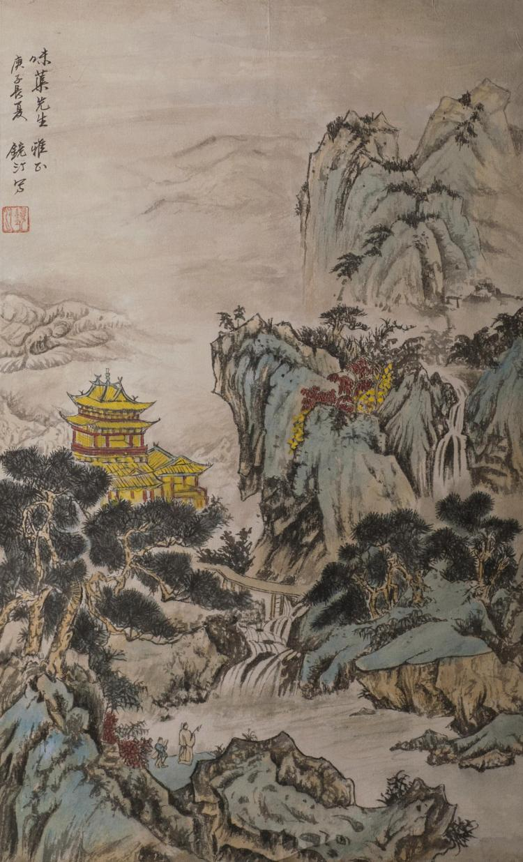 Chinese Fan Painting Signed By WuJingDing