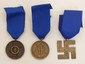 3 German Nazi SS Long Service Medals