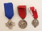 3 German Nazi WWII Medals & Crosses
