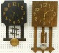 Two Mission Style Wall Clocks