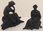 Two Vintage Spelter Statues