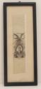 Antique Ribbon Bookmark Depicting Marquis de Lafayette