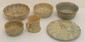 Lot of Spongeware Yellowware Bowls, Cup and Cover