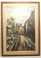 Adnon Beauval Oil on Canvas Street Scene