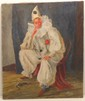 Walt Francis Kuhn Oil on Canvas Sitting Clown