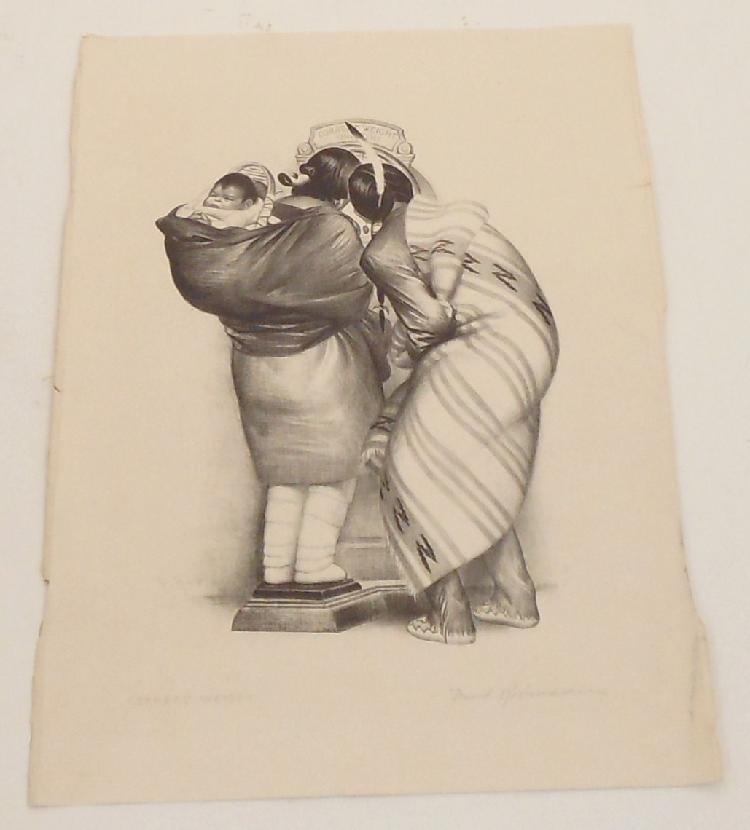 David Robinson Print 'Correct Weight'