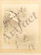 Woodblock Print Rioko Bird Hunting Cicada