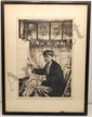 Etching Francis Dodd Portrait of Charles Cundall