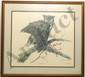 Litho Sallie Ellington Middleton Great Horned Owl
