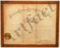 Framed 1886 US Supreme Court Document G W Biddle