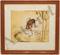 Watercolor Marion E. McAninch Dog And Shadow