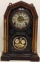 Welch Rosewood Globe Mantel Clock