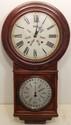 Antique Welch No. 4 Round Head Regulator Calendar Clock