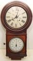 Antique Welch #4 Round Head Regulator Calendar Clock #2