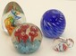 Lot of Four Art Glass Paperweights #7