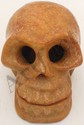 Hand Carved Yellow / Brown Stone Skull