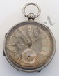 English Sterling Open Face Keywind Pocketwatch