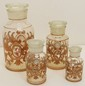 Victorian Apothecary Jar Set Hand Painted