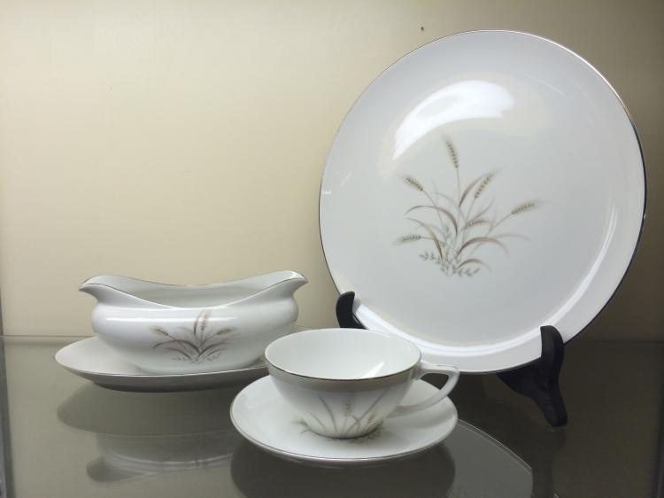 Gemini Wheat Fine China Set Service For 12 Missing 1 Cup