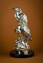 Natural Partners, 99.5% pure cast silver sculpture by Rip Caswell