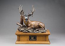 The Legend Rests, bronze sculpture by Rip Caswell