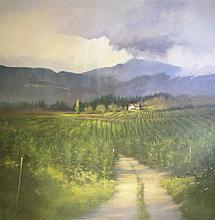 Vineyard Vista, acrylic painting by J.M. Brodrick