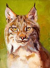 Lynx Study, oil painting by Julie T. Chapman
