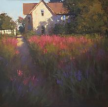 Last Light on Lavender, oil painting by Romona Youngquist
