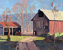 Century Farm, oil painting by Eric Bowman