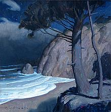 Hug Point Nocturne, oil painting by Eric Bowman