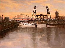 Over the River, oil painting by Jennifer Diehl