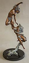 Morning Star - Evening Star, bronze sculpture by Peter Sedlow